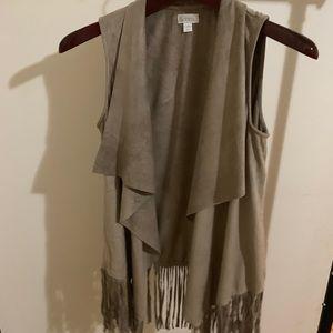 Trendy Decree Suede fringe vest